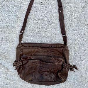 Genuine leather vintage shoulder/crossbody purse
